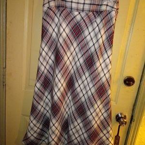 East 5th Plaid Skirt 10